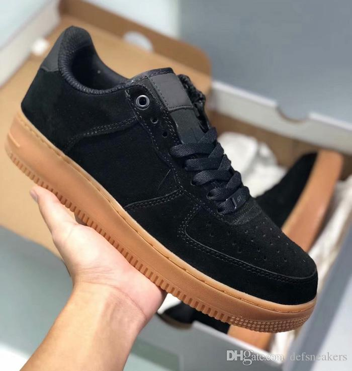 1e2d34dcf00 2019 Hot Sell Forcing Suede Black White Men Women Low Shoes Mesh Breathable  Mens Womens Designer Shoes 1 Online with  62.12 Pair on Defsneakers s Store  ...