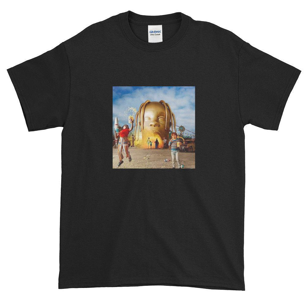 94e3d7062f84 Travis Scott Astroworld Album Cover Graphic T-Shirt Sizes S-3XL Black White  Print Short Sleeve Men Top Novelty T Shirts Men'S Brand Clothing