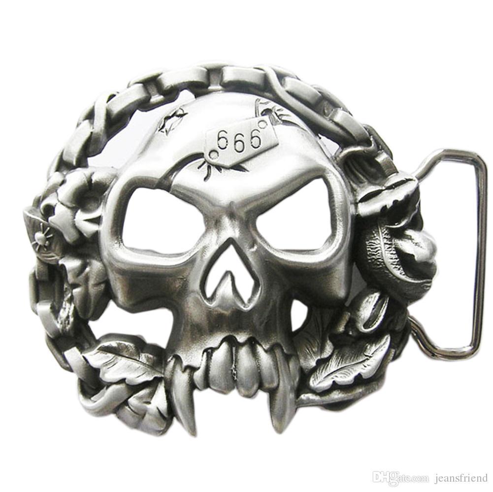 34d4df8bed4e Acheter New Vintage Crâne Avec Moto Chaînes Biker Rider Boucle De Ceinture  Gurtelschnalle Boucle De Ceinture De  8.85 Du Jeansfriend   Dhgate.Com