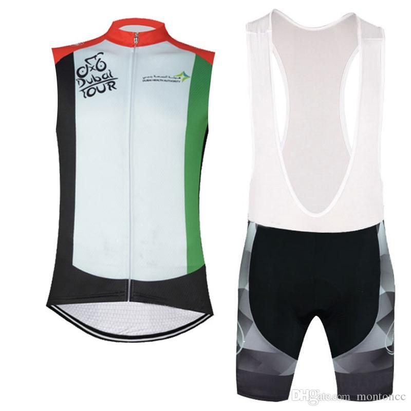 TOUR de DUBAI SLOVAKIA team Cycling Sleeveless jersey Vest bibshorts sets multiple choices men Bike Clothing Mountain bike Sportwear c2920
