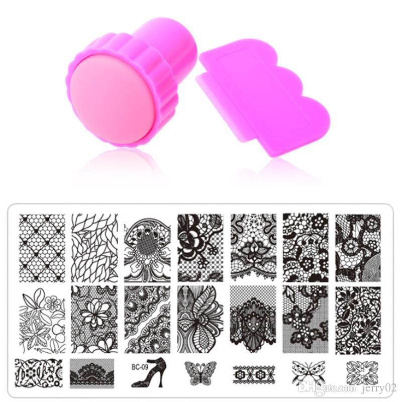 Nail Art Stamping10designs Stainless Steel Image Plates And Stamper