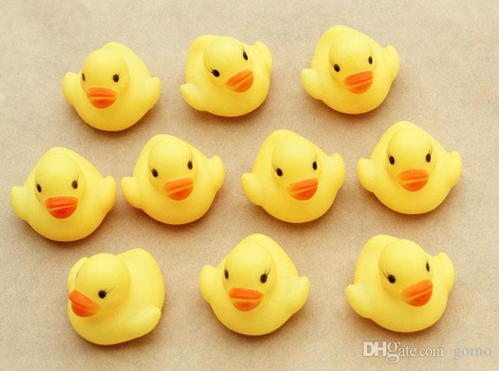 2019 Hot One Dozen 12 Rubber Duck Duckie Baby Shower Water Toys For