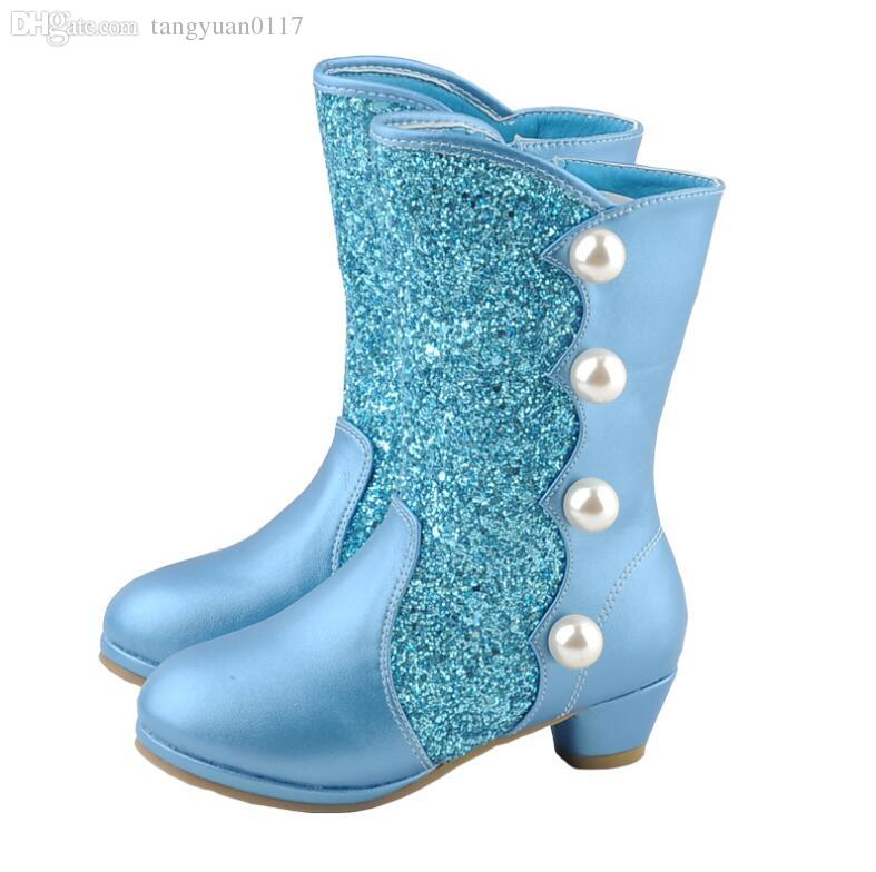New Fashion Princess Boots Waterproof Kids Winter High Heel Boots Warm Fur  Lining Snow Boot High Top Shoes Girls Fashion Boots Cheap Best Boots For  Kids ... 6c3127208ab7