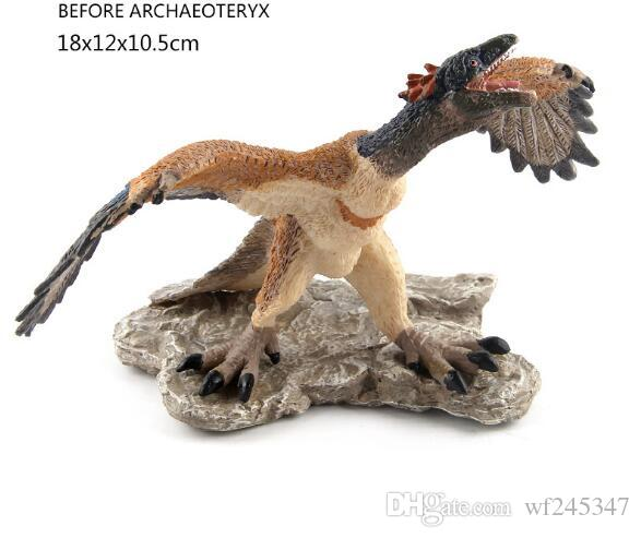 50% Jurassic Dinosaur World Model Toys Late Jurass Archaeopteryx Pequeño Dinosaurio Robo Dragón Suministros de Halloween Niños Juguetes para niños