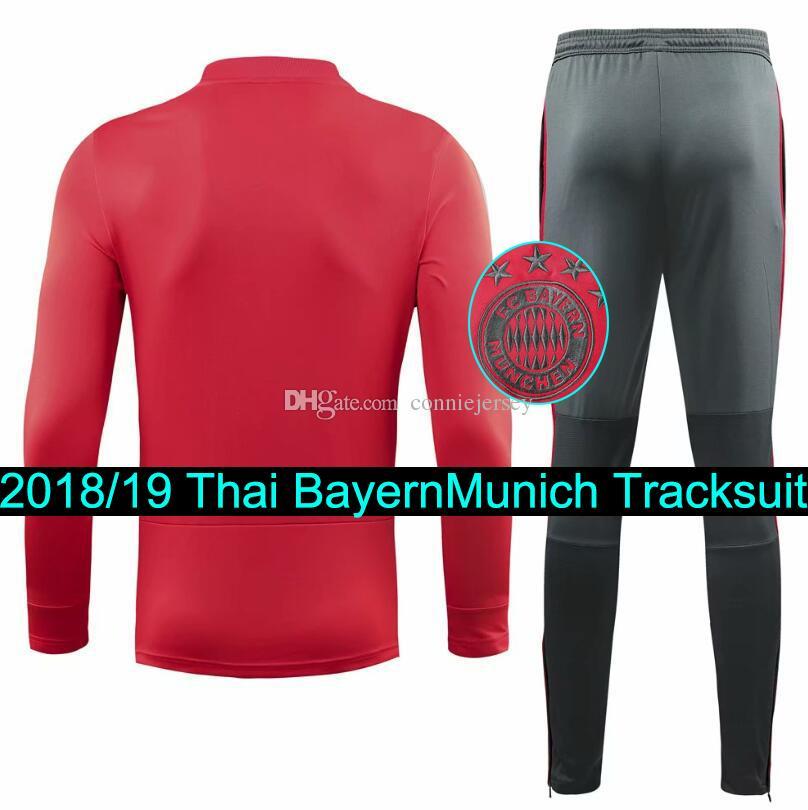 Compre Chándal De Fútbol 18 19 Bayern Munich Chándal 2018 2019 Survetement  Zipper Sweater Pants Traje De Entrenamiento Jogging A  34.02 Del  Conniejersey ... f3073ee21500e