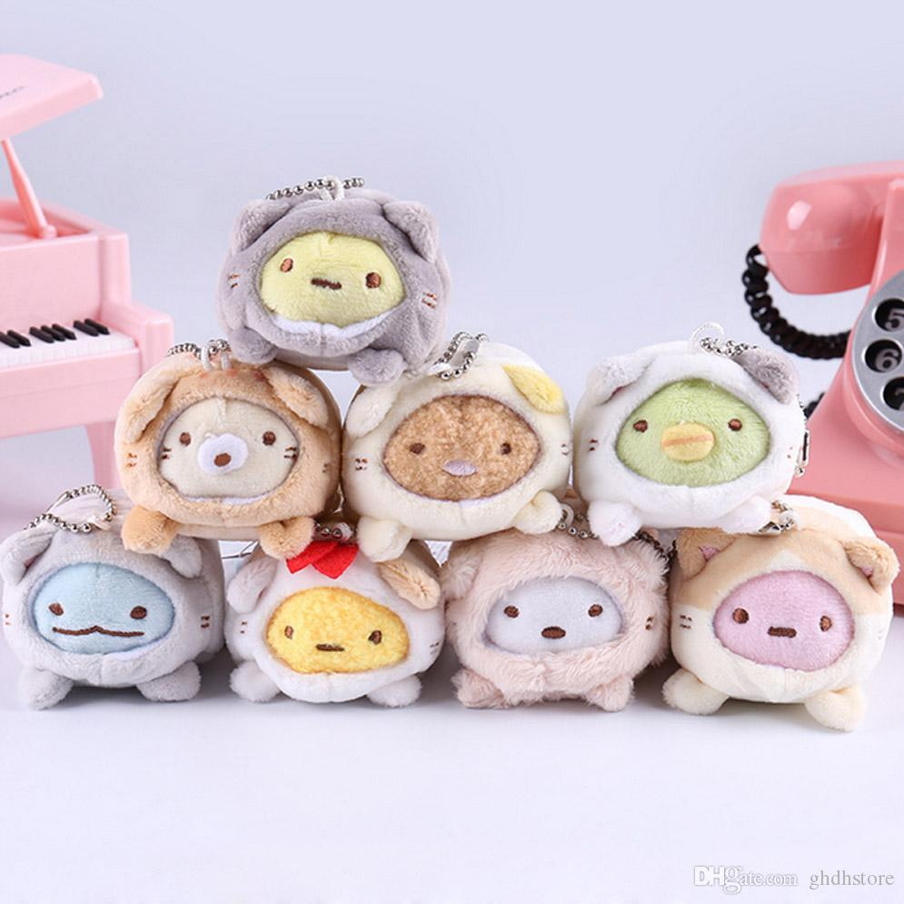 "Top New 8 Styles 2.5"" 6CM Sumikko Plush Doll Pendant Anime Collectible Dolls Keychains Stuffed Party Gifts Soft Toys"