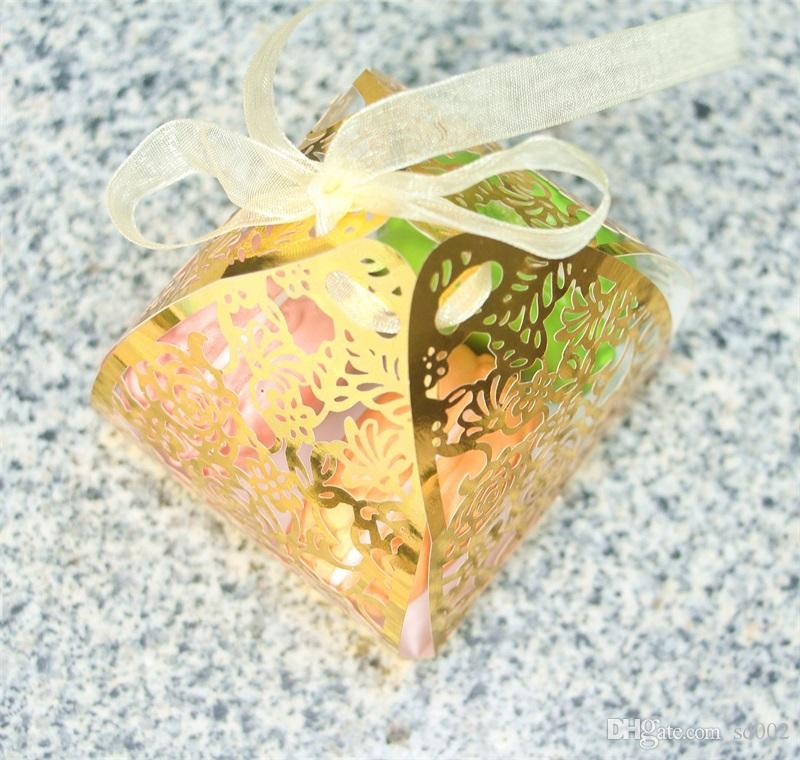 Party Wedding Favor Candy Boxes Rose Hollowed Originality Flower