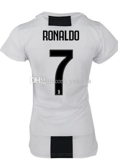 6e7ac088720 2019 Women Discount Cheap 18 19 Customized 7 Ronaldo Home Soccer Jerseys  Shirt Tops