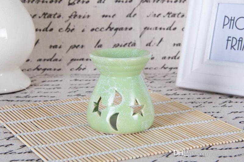 24 stücke Duftlampe Halter Keramik Hohl Kunstwerk Räuchergefäß Licht Aromatherapie Öl Weihrauchbrenner Kerze Ofen Wohnkultur ZA6241