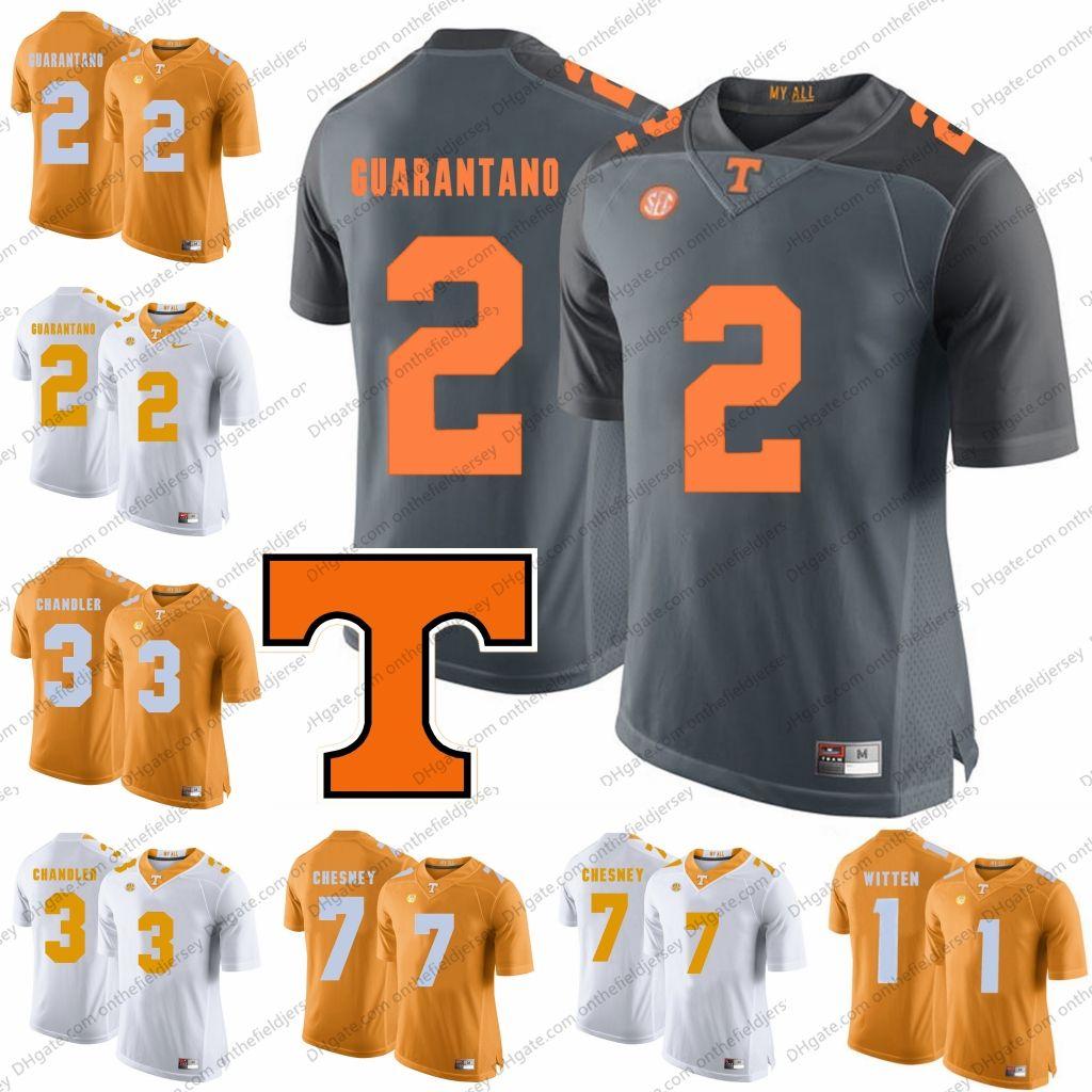 quality design 568f3 2f62c Tennessee Volunteers #2 Jarrett Guarantano 3 Ty Chandler 7 Kenny Chesney 17  Will McBride # Keller Chryst # JT Shrout NCAA Football Jerseys