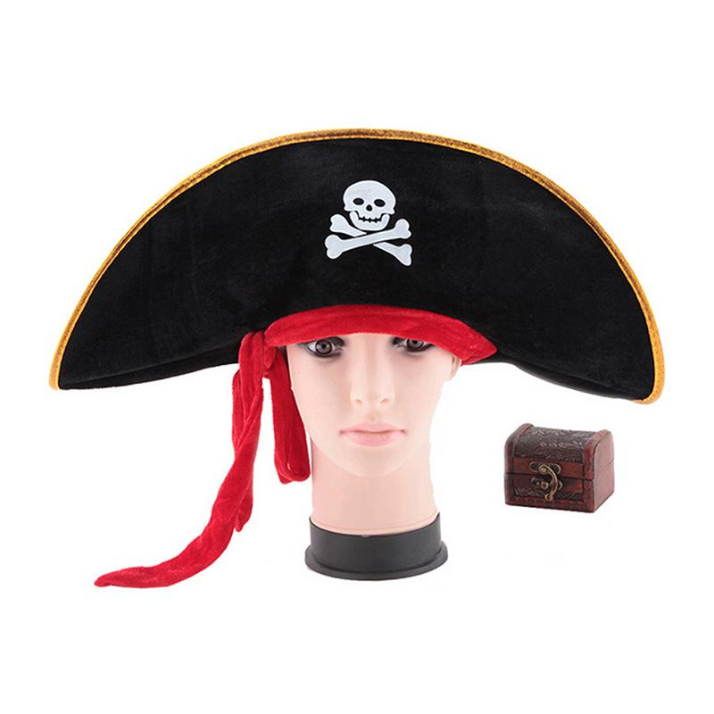 224f5aa7c19 Pirate Hat Skull Pirate Costume Fancy Dress Party Accessories Skull Cap  Caribbean Corsair Hat Party Supplies Diy First Birthday Hat Diy Hats From  Miniatur