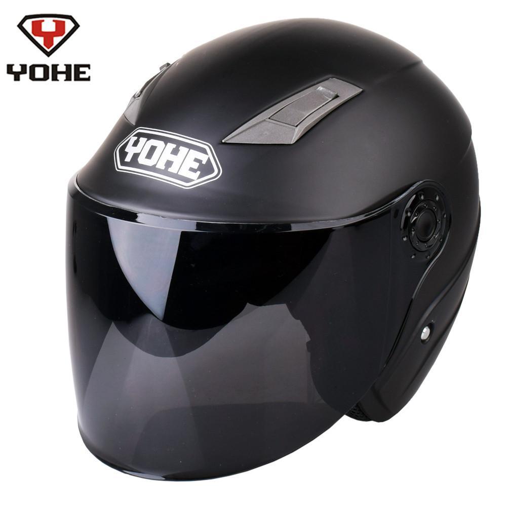 c8ee2287584f1 YOHE Motorcycle Open Face Helmet Casco Moto Casque Moto Scooter Helmets  Matt Black Men Women Summer Capacetes De Motociclista Cool Motorcycle  Helmets Cool ...