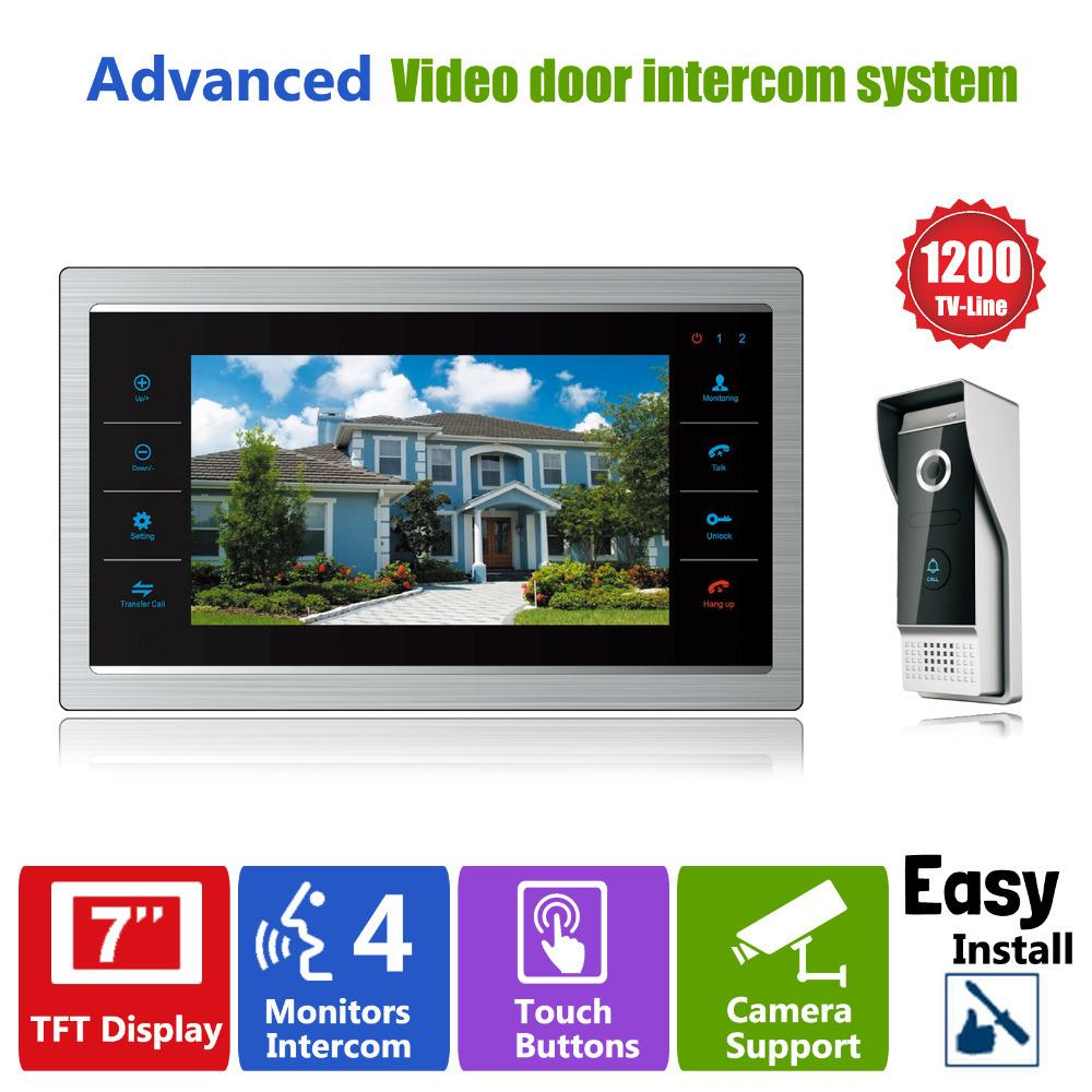 Bon Homefong 7 Tft 1200tvl Door Monitor Video Intercom Home Door Phone Recorder  System Sd/Tf Card Supported Waterproof Rain Cover Wireless Front Door  Camera And ...