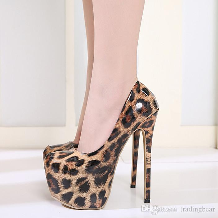 5783027647f Super Platform High Heels Leopard Shoes 16cm Women Nightclub Dance Shoes  Size 35 To 40 White Mountain Shoes Scholl Shoes From Tradingbear