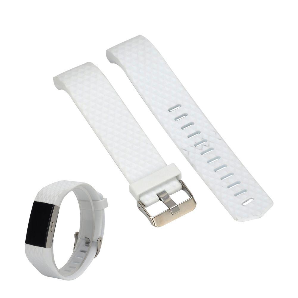 10 가지 색상 Fitbit 2 밴드 충전 2 심박수 스마트 실리콘 소프트 실리콘 시계 밴드 손목 스트랩