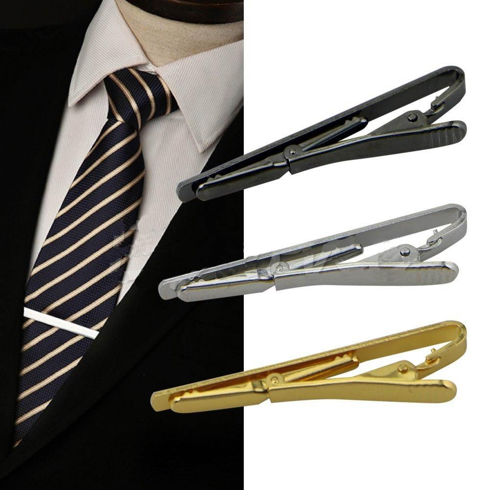 f284a42c9d5e 2019 55*5mm Fashion Men Tie Clip Metal Silver Gold Simple Necktie Tie Bar Clasp  Clip Clamp Pin For Men Suits Formal Wedding Necktie Pin From Best4goods, ...