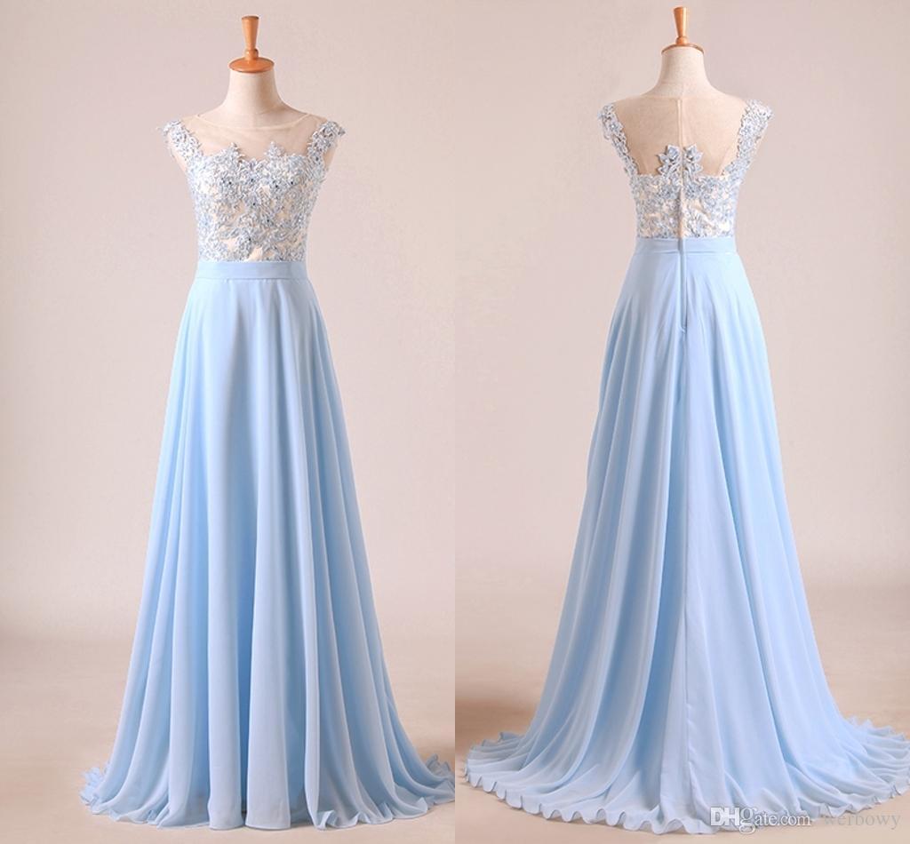 Vestidos en color azul celeste