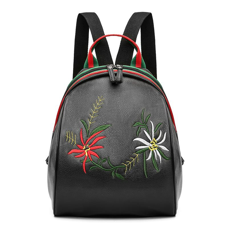 a43fb41d35f9 Star with the Same Bag 2018 New Female Bag Fashion National Style  Embroidered Shoulder Bag Travel Backpack