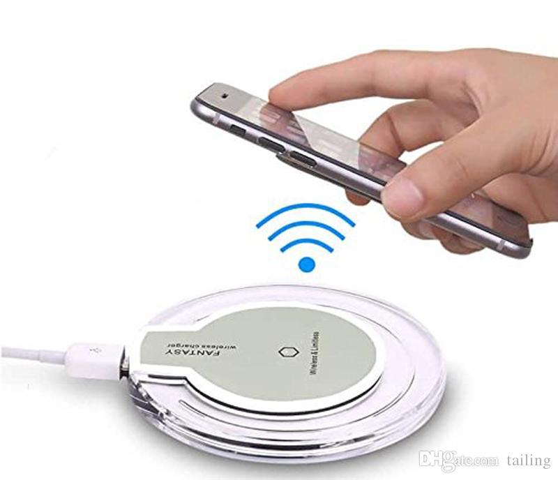 2018 Venta caliente de lujo K9 Crystal Wireless Cargador inalámbrico Caja para Iphone Galaxy S8, S7, S7 Edge / S6 / S6 Edge VS Auriculares Bluetooth