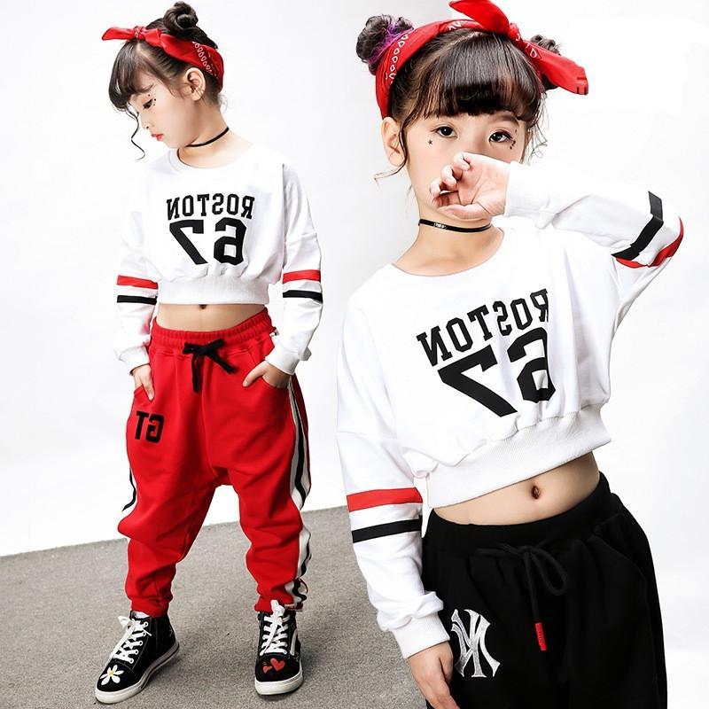 685123cad5dd0 Compre Nueva Moda Midriff Baring Pop Jazz Hiphop Traje De Baile De Hip Hop  Ropa Trajes De Baile Para Niños Niños Niños Niñas Mujeres Hombres A  55.52  Del ...