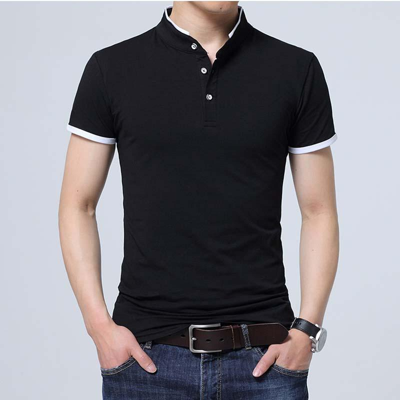 Summer Men Polo Shirt Short Sleeves Solid Polo Homme Cotton Slim Fit Camisa Polo Men Tops &Tees Size 5xl