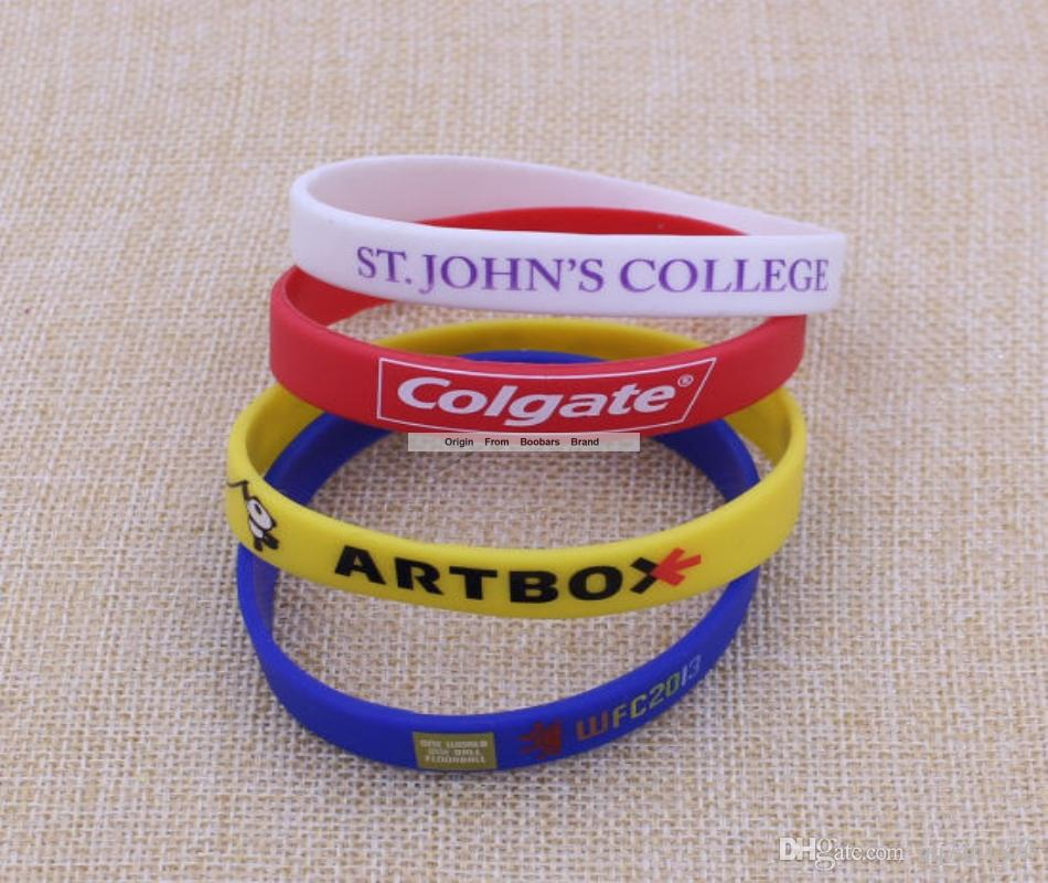 Custom Silicone Wristband for Promotional Gift Country World Flag Logo Football Fans Elastic Wrist Band For Promotion
