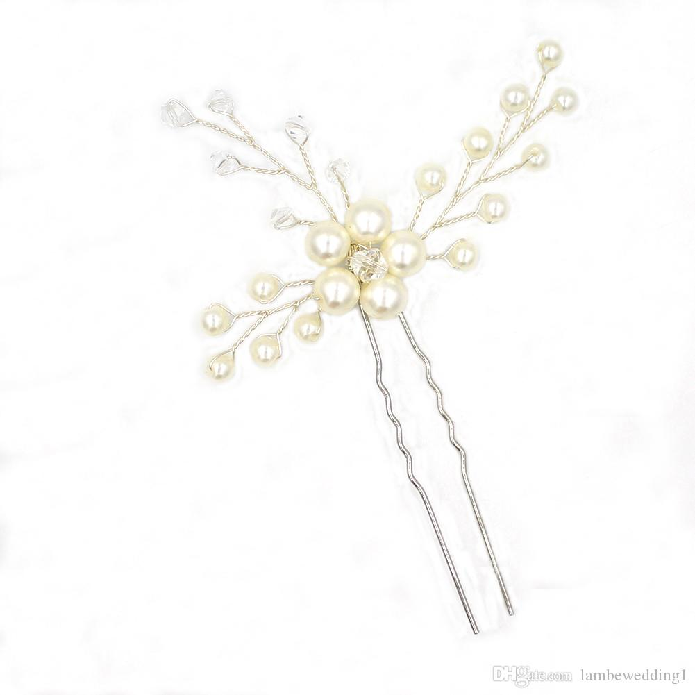 Handmade Delicate Bridal Accessories Silver And Gold Hair Pins For Wedding Rhinestone Pearl Bridal Headpieces Hair Adornments