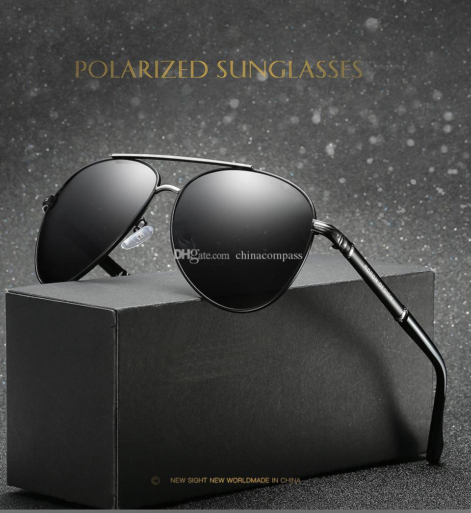 Fashion Pilot Polarized Sunglasses Beach flash Eyewear Metal sun glasses Driving fishing for men A506