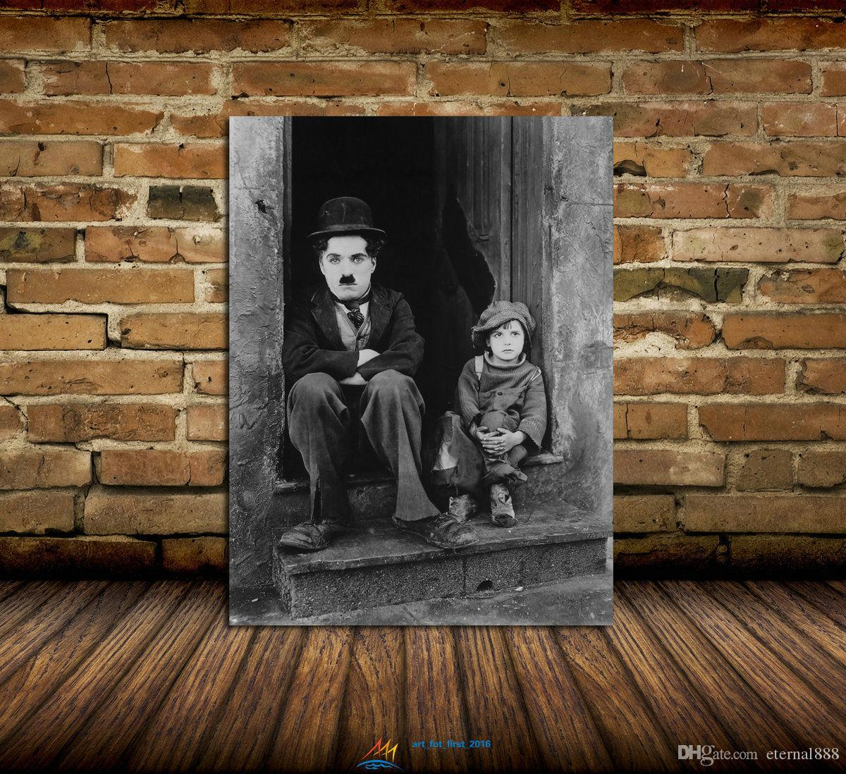 Großhandel Charlie Chaplin Tür Moderne Abstrakte Leinwand Ölgemälde ...
