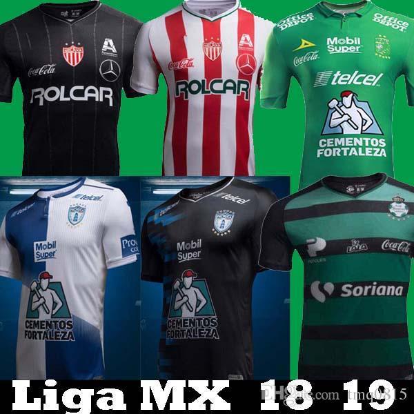 79c7ca6669e 2018 2019 Mexico Liga MX Club Leon Necaxa Pachuca Santos Laguna Home ...