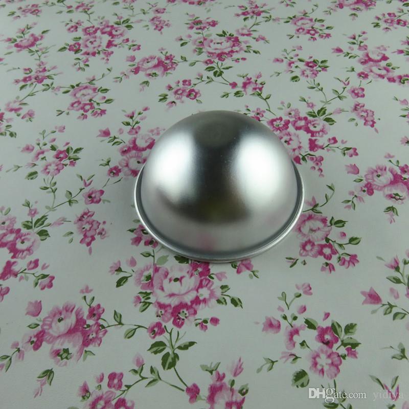 Herramienta de Baker aleación de aluminio 3D Ball Bath Bomb Cake Molde Esfera Cake Sugarcraft Bakeware Decoración Moldes Cake Baking Pastelería Molde