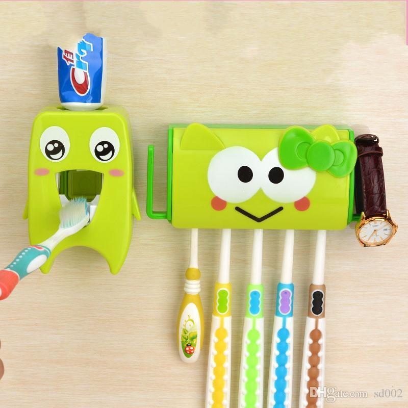 Acquista cartone animato dentifricio automatico dispenser sucker