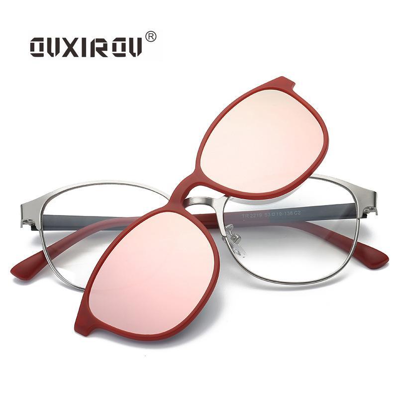 d563a42681e Fashion Eyeglasses Frames Men Women Sunglasses Polarized Magnetic Glasses  Male Driving Clip On Tr90 Spectacle Myopia S2219 Eyewear Frames Cheap  Eyewear ...