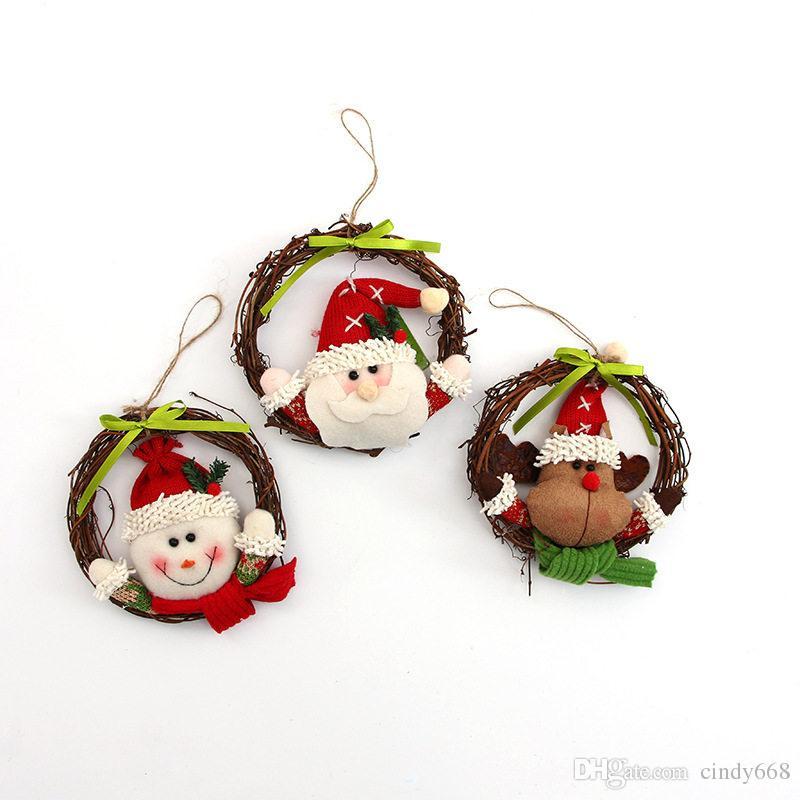 Decoraciones De Navidad Para Puerta 14 Cm Muñecas De Papá Noel Guirnaldas Para Decoraciones Para árboles De Navidad 3 Unids Adornos De Navidad Al