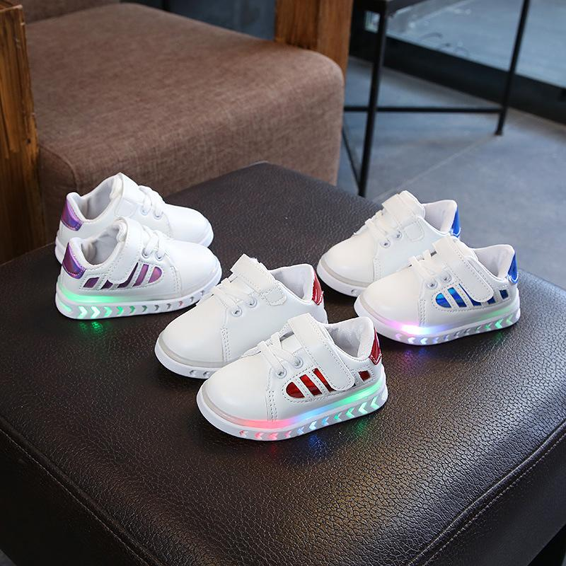 900f57bf895e MD Fashion LED Lights Sneakers Baby Boys Girls Casual Shoes Kids Unisex  Sports Shoes Toddler Size 5 5.5 6 6.5 7 7.5 Childrens Designer Shoes Tennis  Shoes ...
