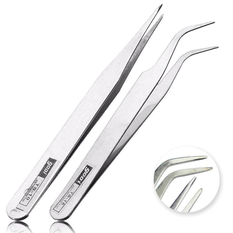 2018 Straight Curved Tweezers Nail Art Tools Steel Nipper For ...