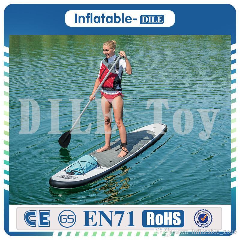 Esportes de surfe 300 * 75 * 15 cm Inflável Sup Stand Up Paddle Prancha Inflável Prancha Com Mochila Bomba de Mão