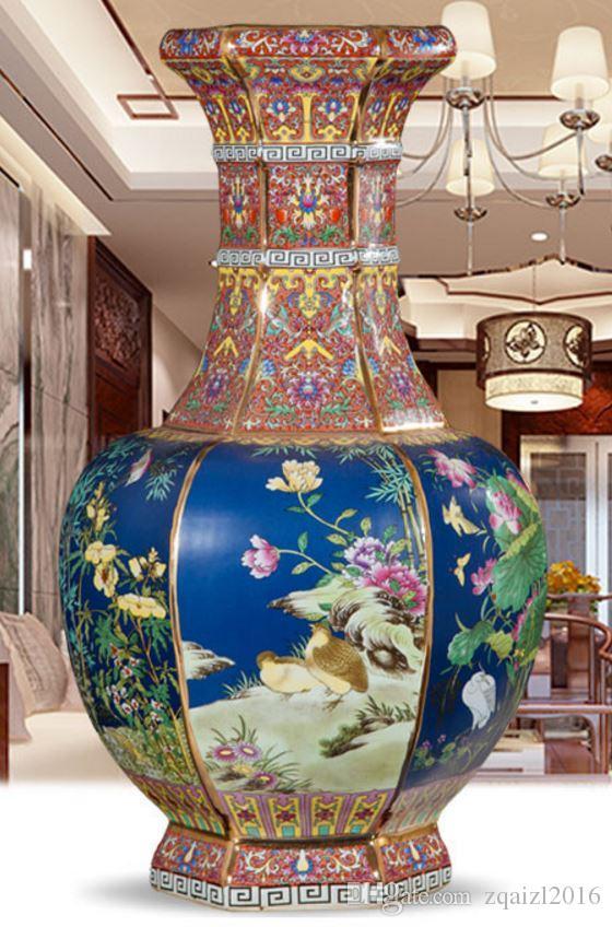 Jingdezhen Ceramics Imitation Qianlong Antique Vase Classical
