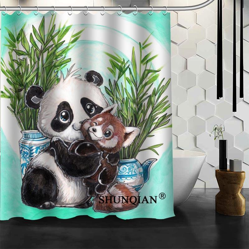 2019 Waterproof Bathroom Curtains Modern Panda Shower Curtain Polyester Bath Screens Customized From Hariold 401