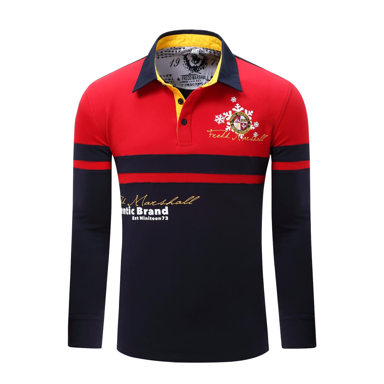 Winter Mens Polos Brand Letters Designer Polo Shirts Long Sleeve