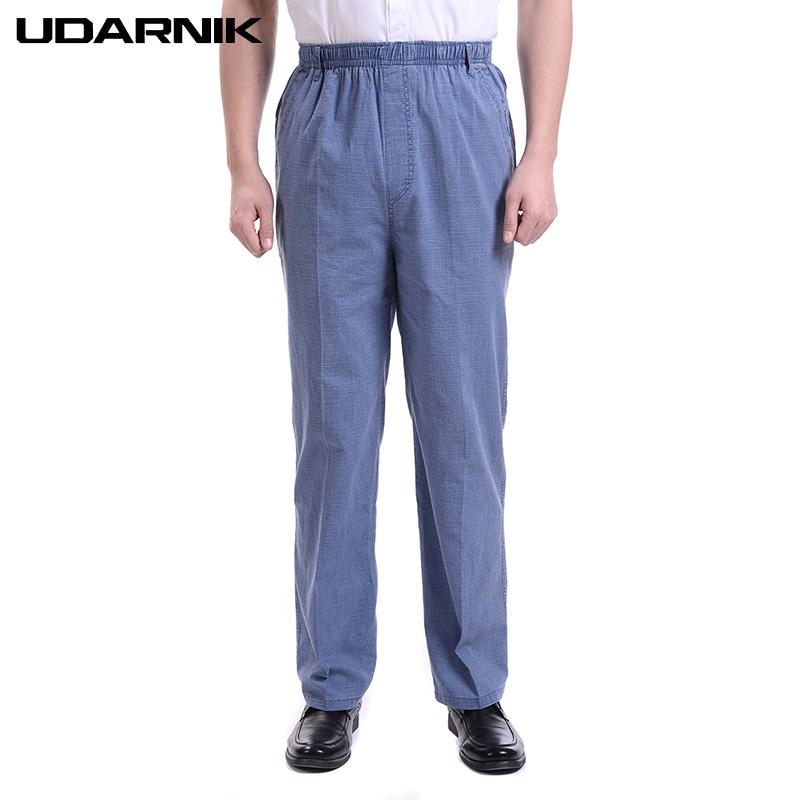 361c6dda31c 2019 Men Casual Loose Linen Pants High Waist Long Pants Elastic Waist Straight  Trousers Plus Size S 5XL Lightweight Fashion 906 A327 From Sheju