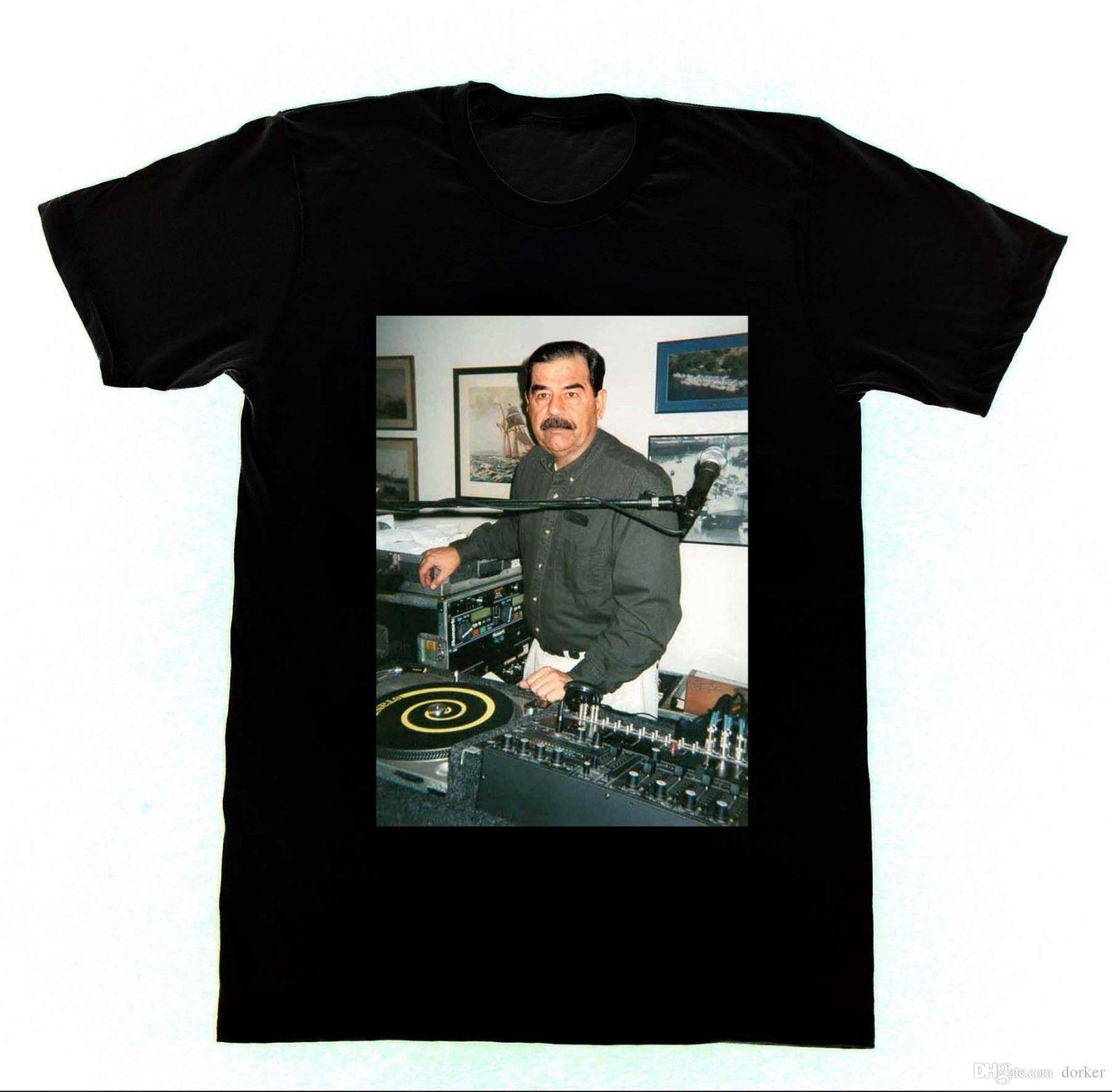 T Shirt Overhemd.Dj Saddam Hussein T Shirt Technics 1200 Irak Huis Edm Hiphop Nieuwe