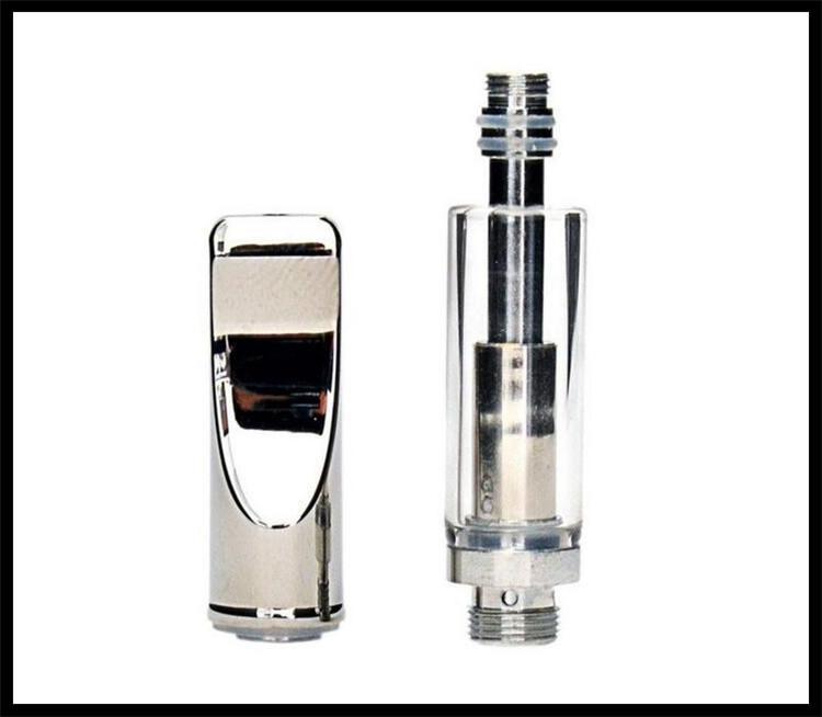 bud touch e cig A3 Glass Cartridges 510 Thread Glass Tank Atomizer A3 Vape flat Mouthpiece Dual Coil Cartridge for electronic cigarette vape
