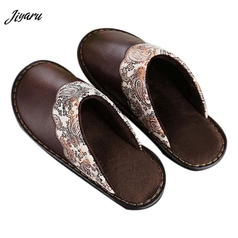 2018 Hot Sale Men House Slippers Winter Male Warm Indoor Slippers
