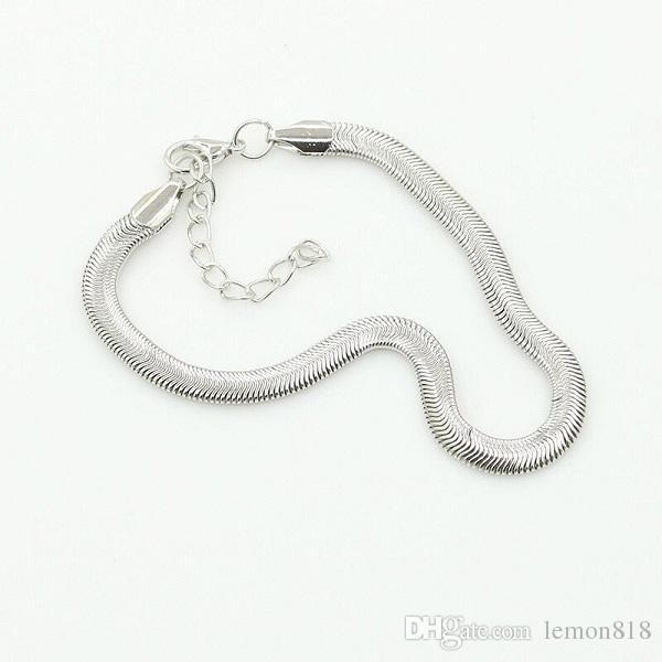 Мода сплава Змея цепь ножной браслет лето пляж Foot Jewelry Женщины Аксессуары Серебро Позолоченные браслеты