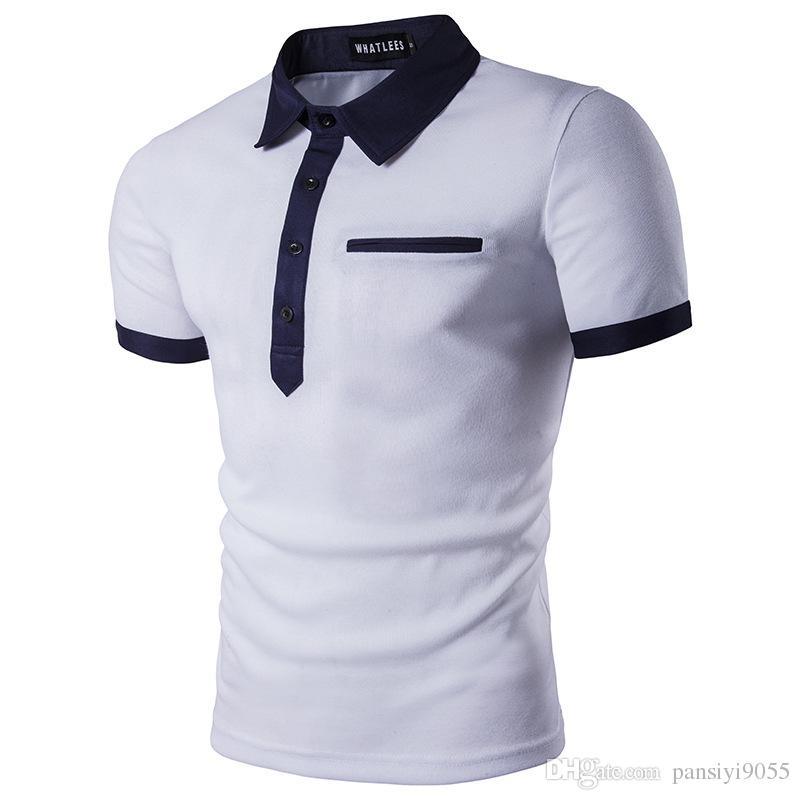 Herren Hemd Kurzarm GESTREIFT Slim FIT Sommer 100/% Baumwolle Polo Style
