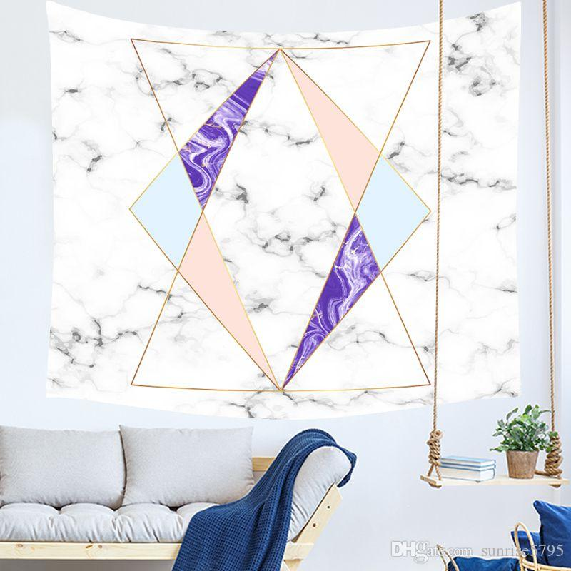 marble print tapestry pink and golden nordic wall hanging tenture mural modern dorm room decor geometric carpet blanket