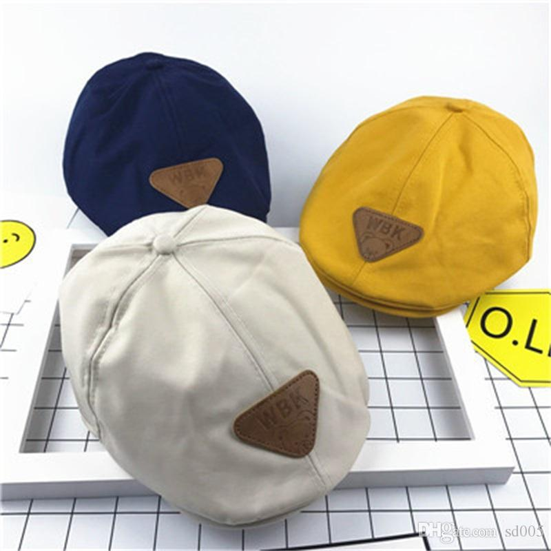 3875c9d9038d0 2019 Children Fashion Retro Beret Hat New Summer Outdoor Peaked Cap Pure  Color Cotton Casquette For Kids Hot Sale 8gl WW From Sd005, $1.92 |  DHgate.Com