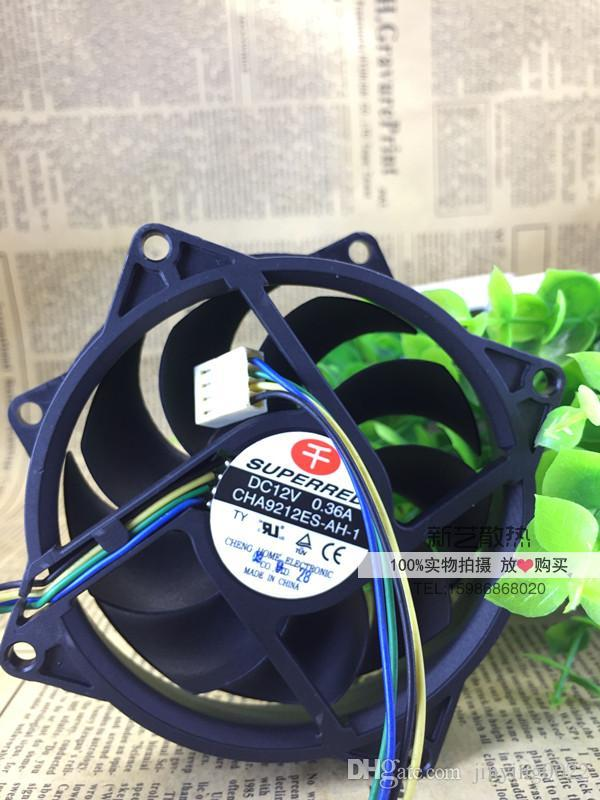 Original SUPERRED CHA9212ES-AH-1 9025 9CM 4-wire / 4PIN 12V 0.36A PWM cooling fan