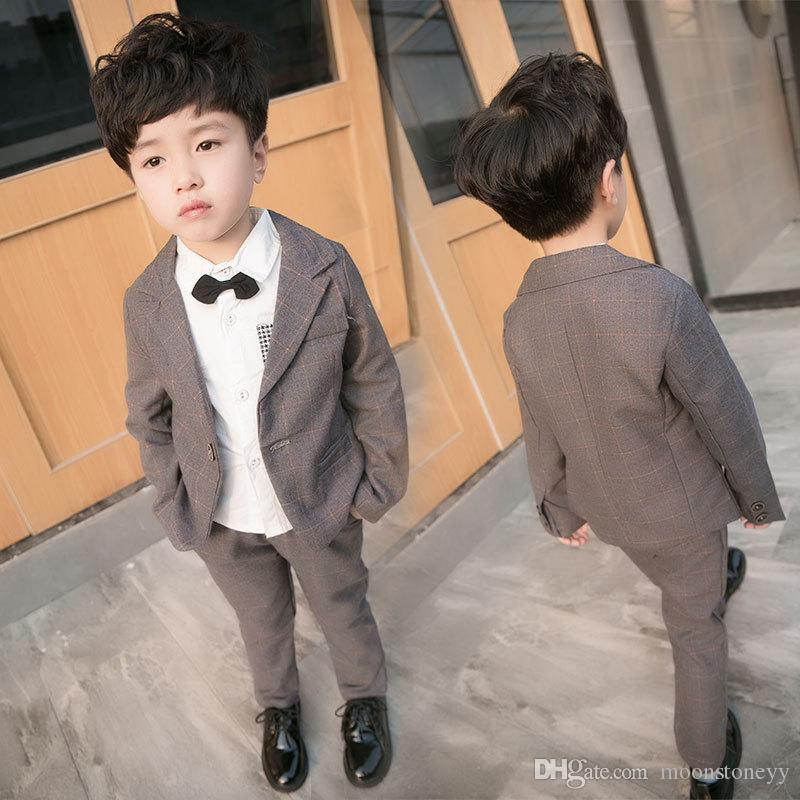 Kindstraum Toddler Boys Wedding Suits 12M-6Y Formal Suits Plaid ...